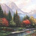 Mountain Peaks by Vickie Wade