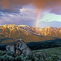 Mountain Rainbow by Leland D Howard