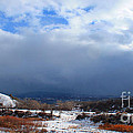Mountain Snow Coming  by Roena King