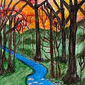 Mountain Stream by Anita Lewis