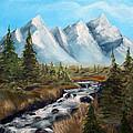Mountain Stream by Robert Schippnick