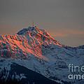 Mountain Sunset In Switzerland by Susanne Van Hulst