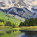 Mountain Top In Spring by Eric Wallis