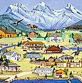 Mountain Town Of Canmore by Virginia Ann Hemingson