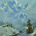 Mountain View With Creek by Teresa Ascone