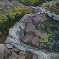 Mountain Waterfall by Diane McClary