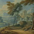 Mountainous Landscape, Adriaen Frans Boudewyns by Litz Collection