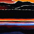 Mountains Abstract by Karon Melillo DeVega