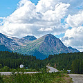 Mountains Along Cassiar Highway In Yt by Ruth Hager