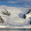Mountains And Glacier At Sunset by Suzi Eszterhas