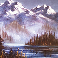 Mountains And Inlet by Teresa Ascone