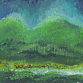 Mountains At Night by Holly Carmichael