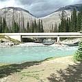 Mountains Green River Under Bridge by Gail Matthews