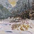 Mountains In The Snow by Iris Nazario Dziadul