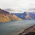 Mountains Meet Lake #5 by Stuart Litoff