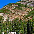 Mountains West Of Kicking Horse Campground In Yoho Np-bc by Ruth Hager