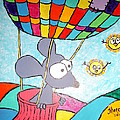 Mouse In Balloon by Theresa Shaw