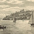 Mouth Of The Shrewsbury River 1872 Engraving by Antique Engravings