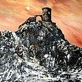 Mow Cop Castle Staffordshire by Jean Walker