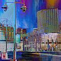 Mpm And Lamp Post Vivid Abstract by Anita Burgermeister