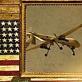 Mq-1 Predator Rustic Flag by Reggie Saunders