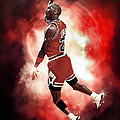 Mr. Michael Jeffrey Jordan Aka Air Jordan Mj by Nicholas  Grunas