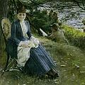 Mrs Symons In Scotland by Anders Zorn