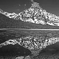 1m3641-bw-mt. Chephren Reflect  by Ed  Cooper Photography