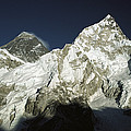 Mt Everest And Mt Nuptse by Colin Monteath