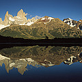 Mt Fitzroy At Dawn Patagonia by Colin Monteath