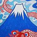 Mt. Fuji And A Red Dragon by Taikan Nishimoto