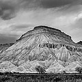 Mt. Garfield - Black And White by Jeff Stoddart