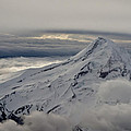 Mt. Hood Between Clouds by Richard Risely