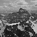 T-703512-bw-mt. Hungabee From Summit Of Mt. Lefroy-bw by Ed  Cooper Photography