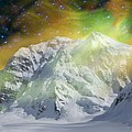 Mt. Hunter Aurora # Da 129 by Dianne Roberson