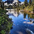 Mt. Jefferson From Alpine Lake by Stuart Gordon