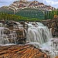 Mt. Kerkeslin  Athabasca Falls by Rick Mousseau