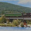 Mt Rainier Scenic Railroad Crossing Bridge by Charles Robinson
