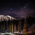 Mt. Rose Highway And Ski Resort At Night by Scott McGuire