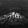 Mt Shasta Black And White by John Daly