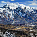 Mt. Timpanogos In Winter From Utah Valley by Gary Whitton