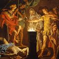 Mucius Scaevola In The Presence Of Lars Porsenna by Matthias Stom