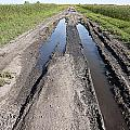 Muddy Country Road by Donald  Erickson