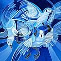Muge's Pigeons by Taiche Acrylic Art