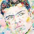 Muhammad Ali - Watercolor Portrait.1 by Fabrizio Cassetta