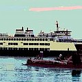 Mukilteo Clinton Ferry Panel 3 Of 3 by James Kramer