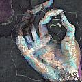Muladhara - Root 'blue Hand' Chakra Mudra by Silk Alchemy