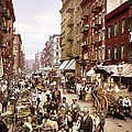 Mulberry Street, New York, Circa 1900 by Science Photo Library