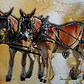 Mules In Full Dress by Ericamaxine Price