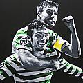 Mulgrew And Watt - Glasgow Celtic Fc by Geo Thomson